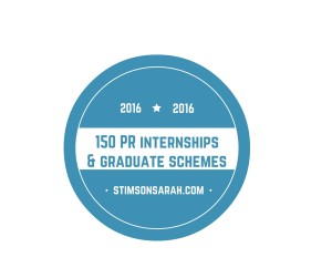 150 PR internships and graduate schemes